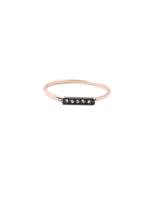 ?Dainty Stacking Pave Ring ($380) in Rose Gold
