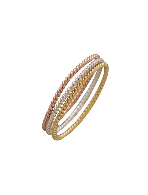 Set of 3 Fine Twisted Rings ($115) sin Silver/Rose/Gold