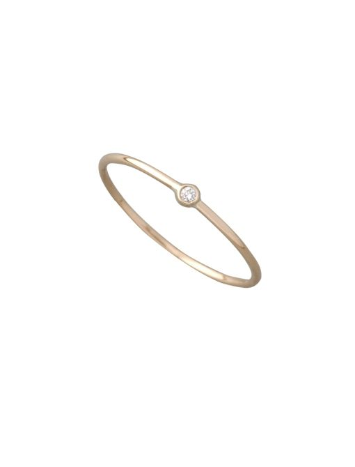 Mini Solitaire Ring ($360) in Gold
