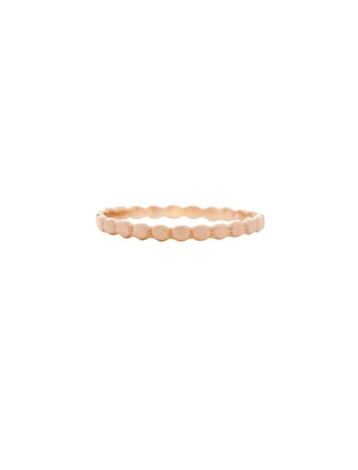 Dotted Band ($690) in 14K Rose Gold