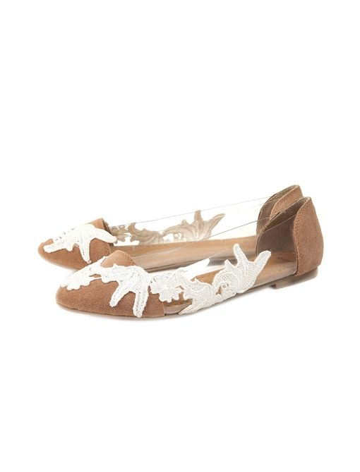 Lace Perspex Points Shoes ($60)