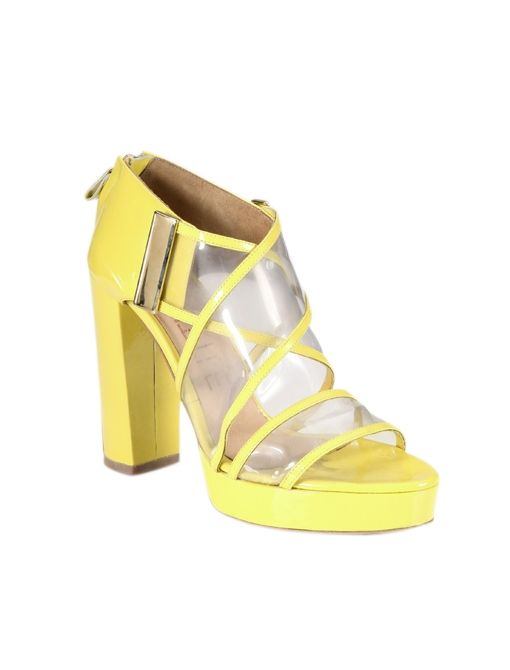 Translucent Patent Leather Sandals ($649)