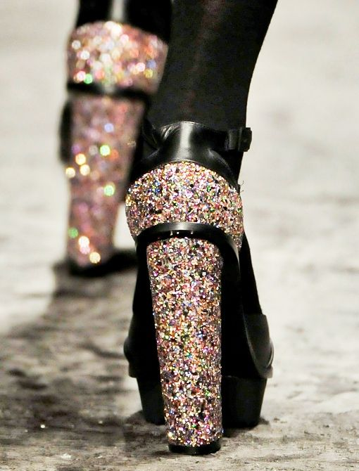 Disco-Dipped Heels