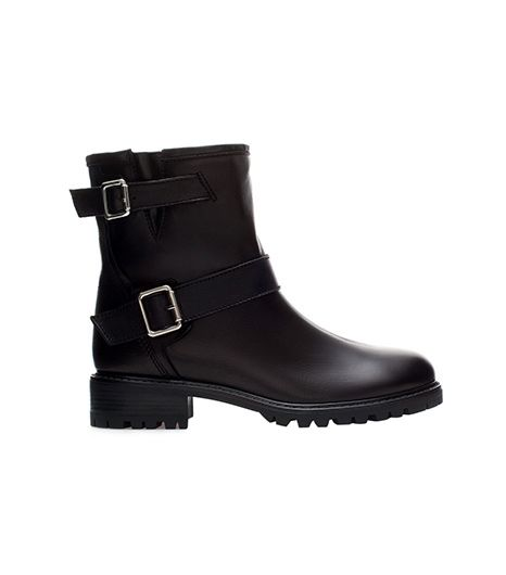 Zara Fur Biker Ankle Boots