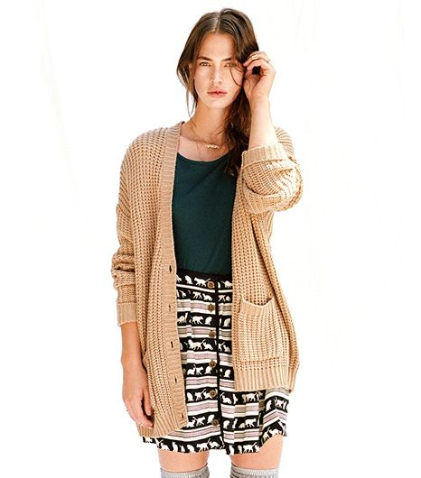 BDG Twist-Back Shaker Cardigan