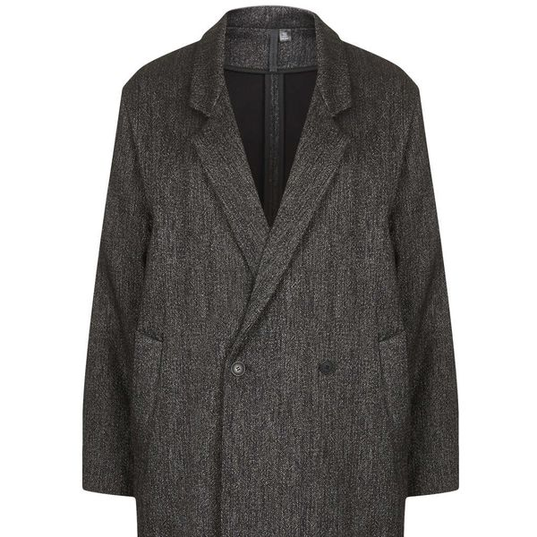Topshop by Boutique  Charcoal Tweed Long Coat
