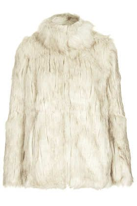 Topshop  Faux Tipped Fur Jacket
