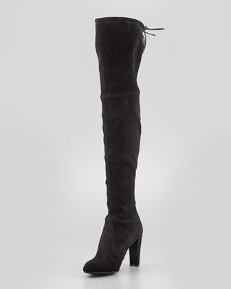 Stuart Weitzman  Highland Stretchy Suede Over-The-Knee Boots