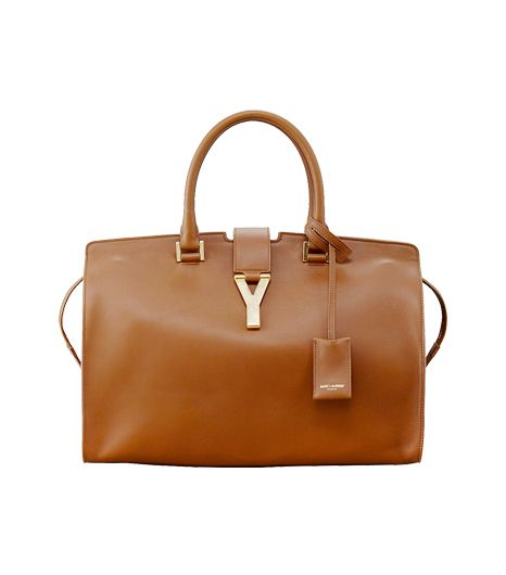 Saint Laurent Classic Cabas Y-Ligne Leather Carryall