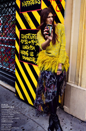 The 'Selfie' Goes High Fashion In This Editorial From ELLE Poland