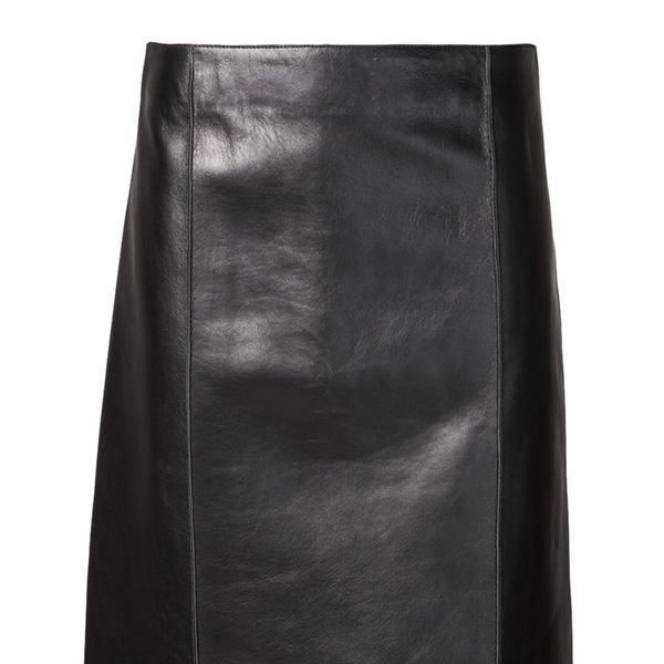 The Row Lambskin Skirt
