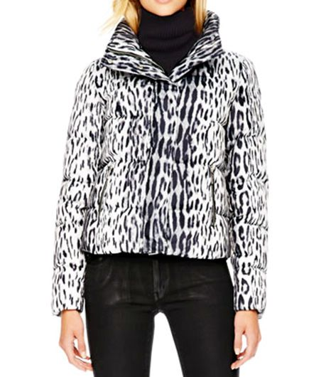 MICHAEL Michael Kors  Cropped Printed Puffer Jacket