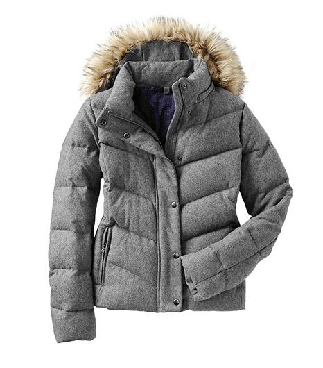 Gap  Fur-Trim Wool Puffer