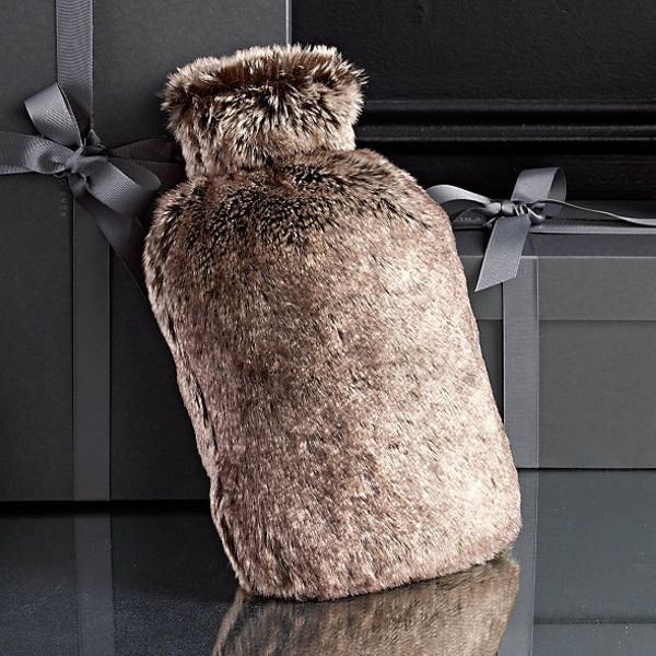 Restoration Hardware  Luxe Faux Fur Hot Water Bottle