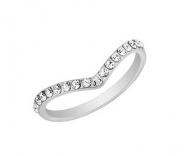 Vita Fede  Ultra Mini Clear Swarovski Crystal V-Ring