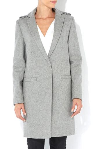 Wallis  Grey Slim Coat