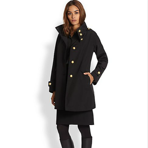 Jane Post  A-Line Military Coat