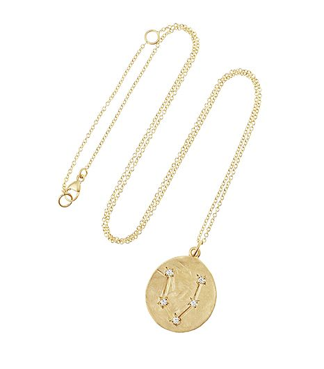 Brooke Gregson  Brooke Gregson 14K Gold Diamond Zodiac Necklace