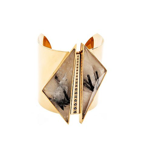 Kelly Wearstler  Kelly Wearstler Black Diamond & Quartz Cuff