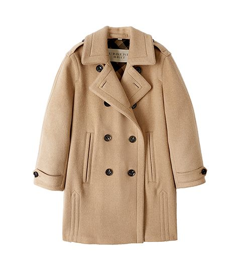 Burberry Brit Wool and Camel Hair Double-Breasted Cocoon Coat