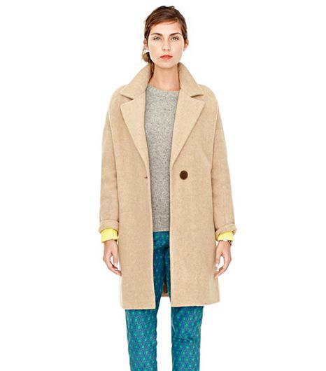 This boxy one-button cocoon coat is the style of the season, and will look great when paired with a midi skirt and turtleneck.  Fossil Morgan Cocoon Coat ($228) in Camel