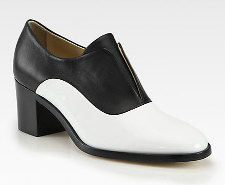 Reed Krakoff  Leather & Lace Oxfords