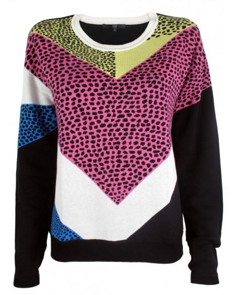 Tibi  Nelio Jacquard Easy Pullover