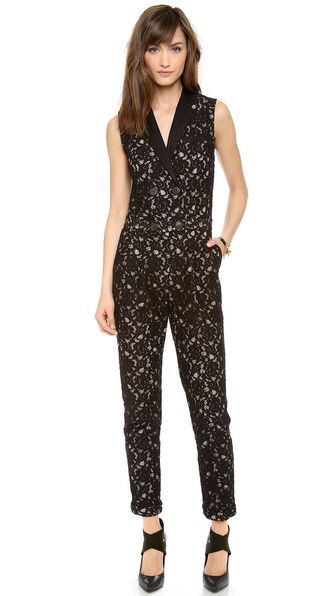 Sea  Lace Jumpsuit