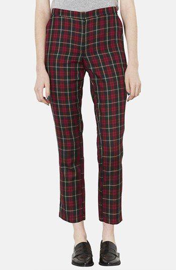 Topshop  Plaid Crop Trousers