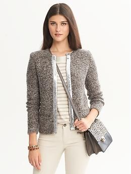 Banana Republic  Sequin-Trim Sweater Jacket