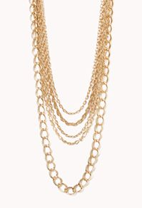 Forever 21  Luxe Multi-Chain Layered Necklace