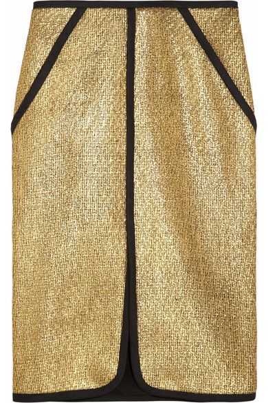Jonathan Simkhai  Metallic Boucle Pencil Skirt