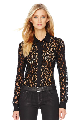 MICHAEL Michael Kors  Sheer Lace Blouse