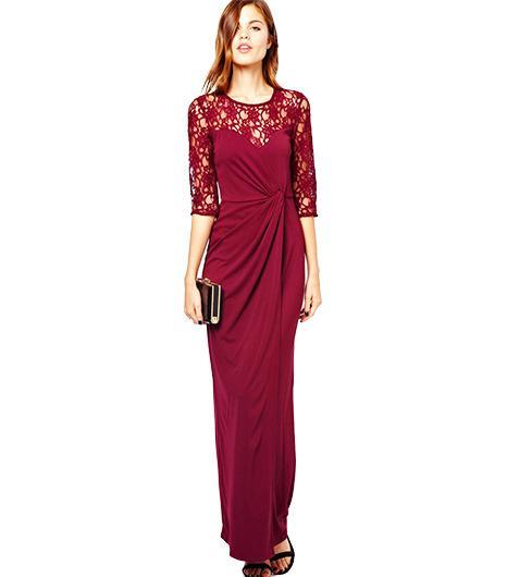 Warehouse Lace Insert Maxi Dress