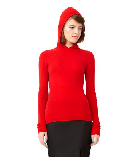 Kate Spade Saturday Ribbed Hoodie in Cashmere Blend