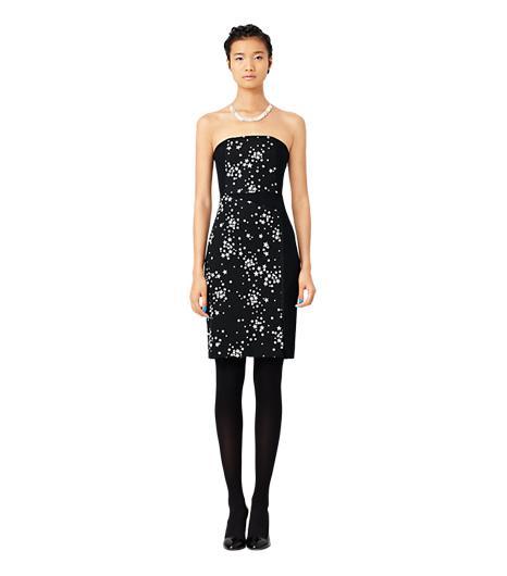 Kate Spade Saturday Strapless Panel Dress in Black Star Cluster