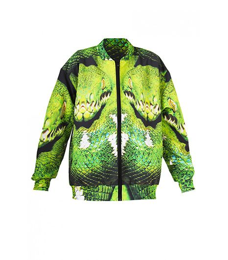 Mr Gugu & Miss Go Snake Printed Bomber Jacket