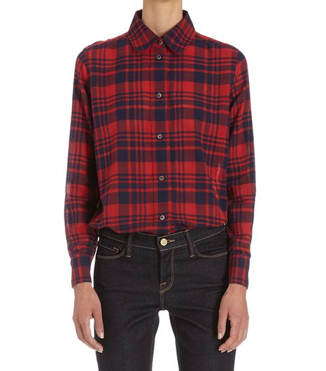 A.P.C. Plaid Long Sleeve Shirt