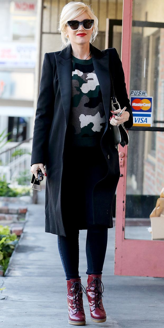 Gwen Stefani Gives The Camo Trend A Chic Update