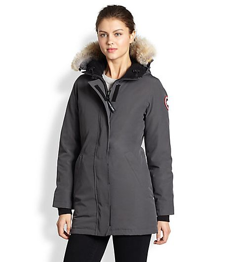 Canada Goose Down Fur-trimmed Down-Filled Victoria Parka