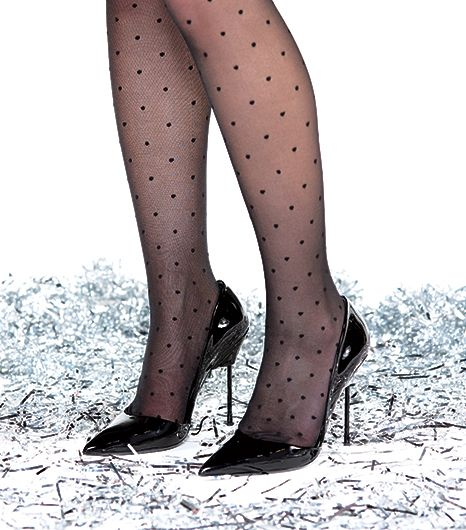You can never, ever go wrong when you pair a Swiss dot print with a slick, black, patent leather heel.  It's the perfect mash-up of sweet and subversive.