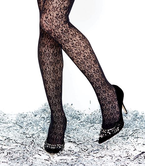 Don't rule out over-the-top decadence when dressing around that LBD. Lace, much like leopard,can be construed as a snazzy neutral so go ahead, wear these with statement-making...