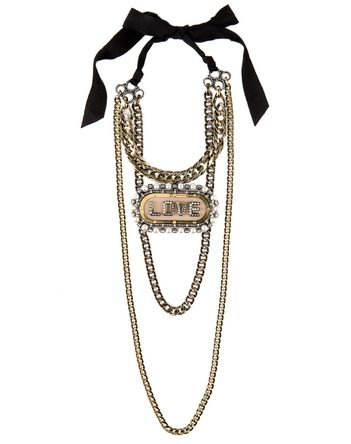 Lanvin Brooch Necklace
