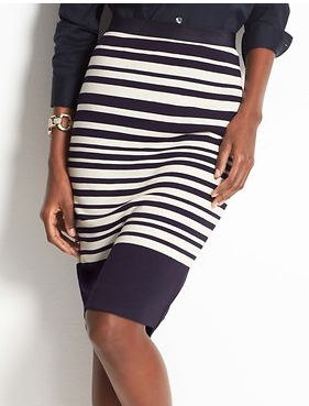 Ann Taylor  Variegated Stripe Pencil Skirt