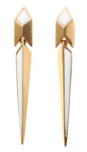 Maiyet  White Bone Poison Dart Earrings