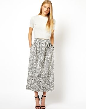 ASOS  Maxi Skirt In Lace