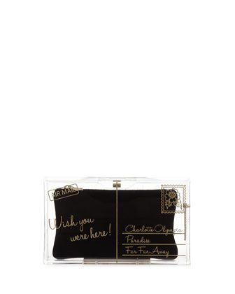 Charlotte Olympia  Pandora Wish You Were Here Box Clutch
