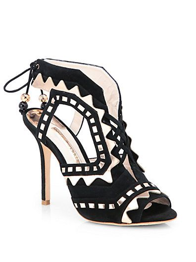 Sophia Webster  Tribal Lace-Up Suede Sandals