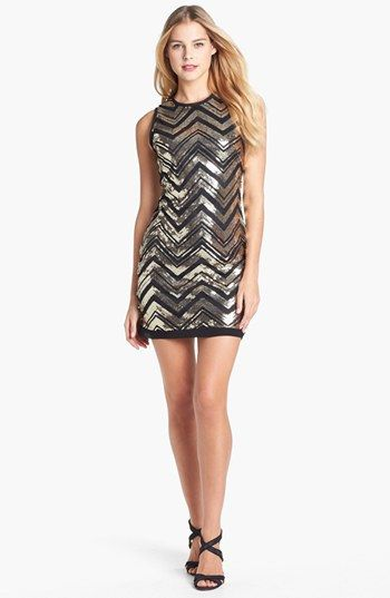 Vince Camuto  Sequin Shift Dress