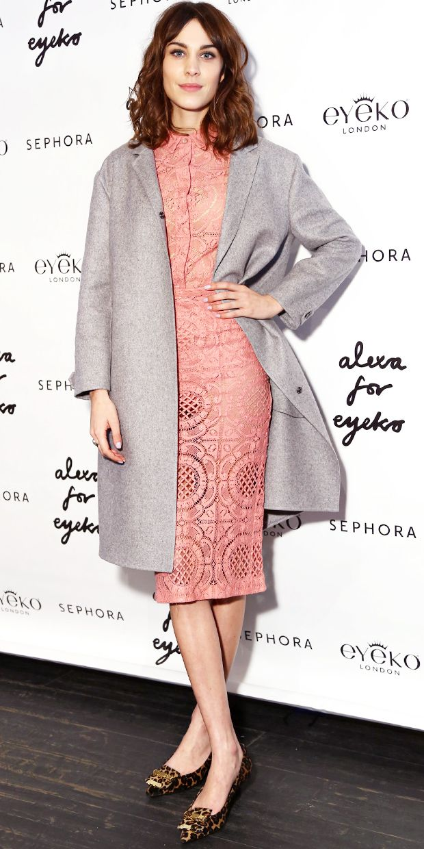 Alexa Chung Is Pretty In Pink
